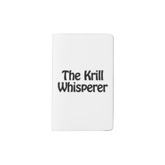 the krill whisperer pocket moleskine notebook cover with notebook