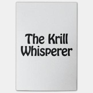 the krill whisperer post-it® notes