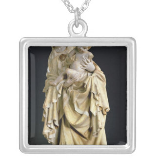 The Krumauer Madonna, c.1400 Silver Plated Necklace