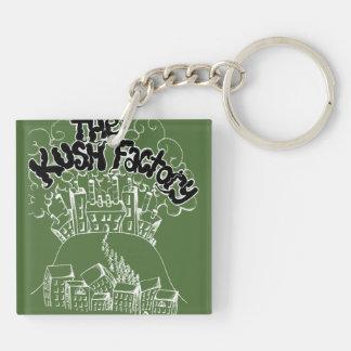 the kush factory Double-Sided square acrylic keychain