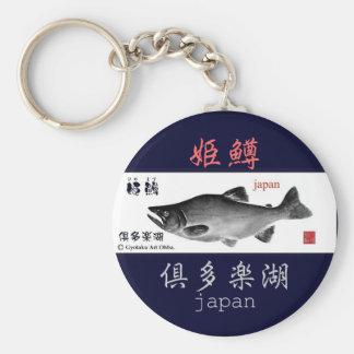 The Kuttara lake! Princess trout! GYOTAKU HOKKAIDO Basic Round Button Keychain