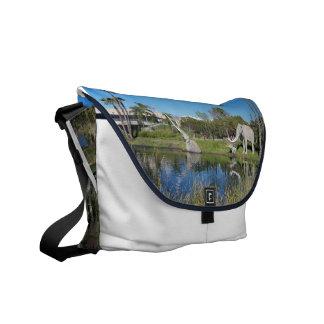 The La Brea Tar Pits Rickshaw Messenger Bag