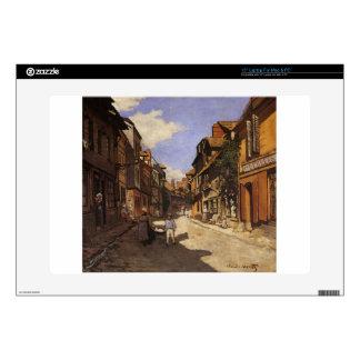 The La Rue Bavolle at Honfleur 2 by Claude Monet Laptop Skins
