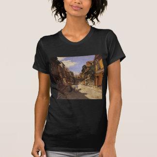 The La Rue Bavolle at Honfleur 2 by Claude Monet Tee Shirt