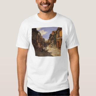 The La Rue Bavolle at Honfleur 2 by Claude Monet Tshirts