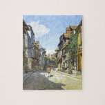 The La Rue Bavolle at Honfleur by Claude Monet Jigsaw Puzzle