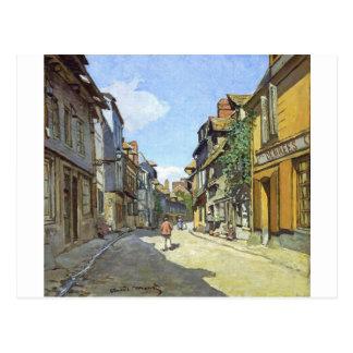 The La Rue Bavolle at Honfleur by Claude Monet Postcard
