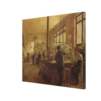The Laboratory 1887 Stretched Canvas Print