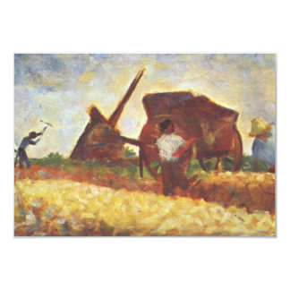 The Laborers by Georges Seurat 3.5x5 Paper Invitation Card