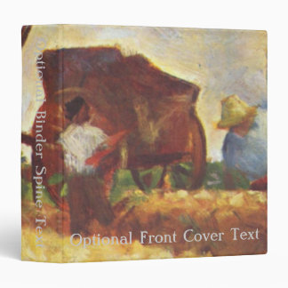 The Laborers by Georges Seurat 3 Ring Binder