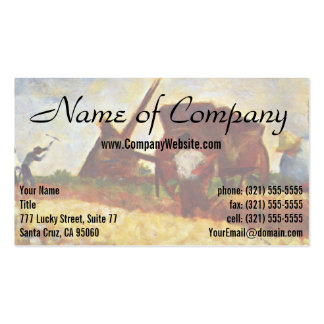 The Laborers by Georges Seurat Business Card Templates
