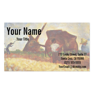 The Laborers by Georges Seurat Business Card