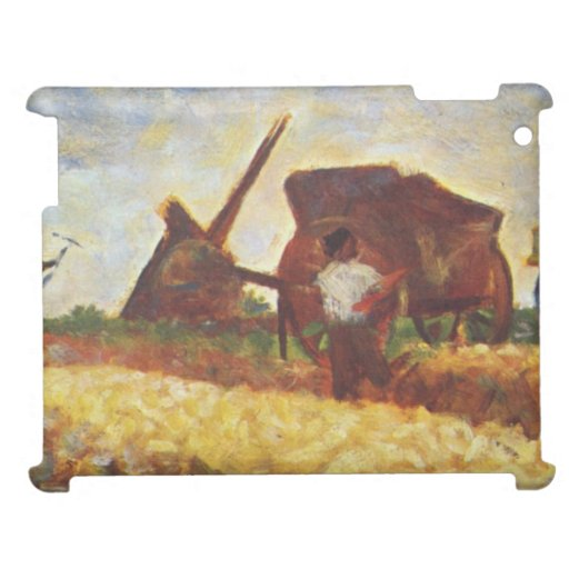 The Laborers by Georges Seurat Cover For The iPad