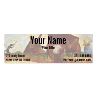 The Laborers by Georges Seurat Mini Business Card