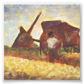 The Laborers by Georges Seurat Photo Print