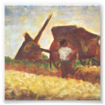 The Laborers by Georges Seurat Photograph