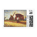 The Laborers by Georges Seurat Stamps