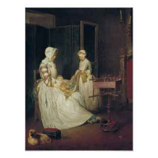 The Laborious Mother, c.1740 Poster