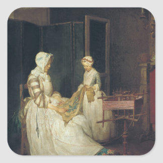 The Laborious Mother, c.1740 Square Sticker