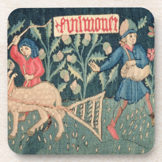 The Labours of the Months, Alsace (tapestry)Vict Beverage Coaster