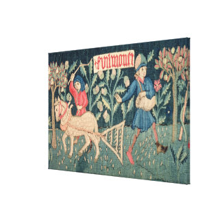The Labours of the Months, Alsace (tapestry)Vict Canvas Print