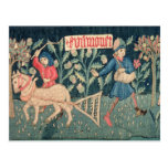 The Labours of the Months, Alsace (tapestry)Vict Postcard