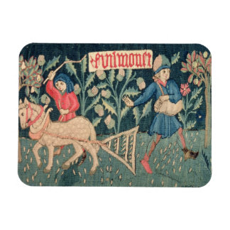 The Labours of the Months, Alsace (tapestry)Vict Rectangular Photo Magnet