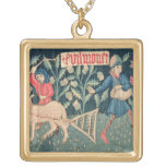 The Labours of the Months, Alsace (tapestry)Vict Square Pendant Necklace
