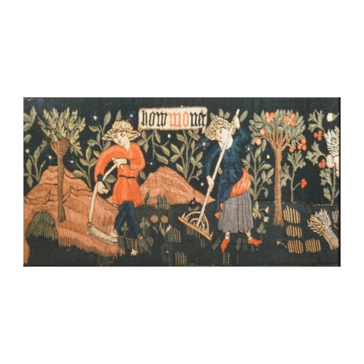 The Labours of the Months, from Alsace Gallery Wrapped Canvas