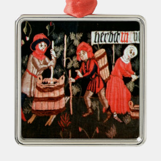 The Labours of the Months, from Alsace Metal Ornament