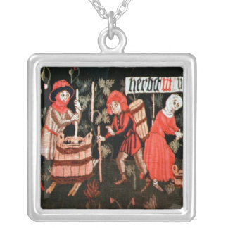 The Labours of the Months, from Alsace Silver Plated Necklace