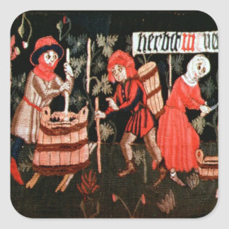 The Labours of the Months, from Alsace Square Sticker