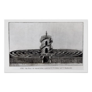 The Labyrinth of the Villa Pisani at Stra, after a Print