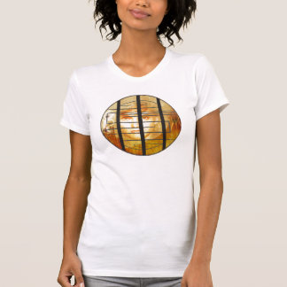 The Labyrinth Wall White Shirt with Logo Art