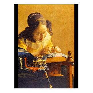The Lace Maker', Jan Vermeer_Dutch Masters Postcard