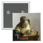 The Lacemaker, 1669-70 2 Inch Square Button