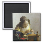 The Lacemaker, 1669-70 2 Inch Square Magnet
