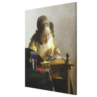 The Lacemaker, 1669-70 Canvas Print