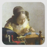 The Lacemaker, 1669-70 Square Sticker