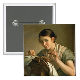 The Lacemaker, 1823 Pinback Button
