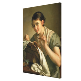 The Lacemaker, 1823 Canvas Print