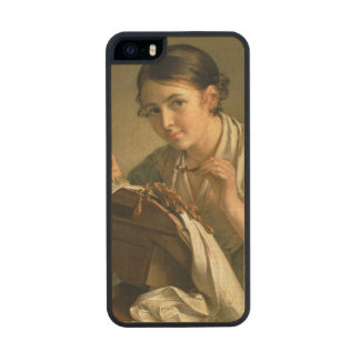 The Lacemaker, 1823 Carved® Maple iPhone 5 Case