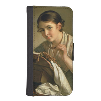 The Lacemaker, 1823 iPhone 5 Wallet Cases
