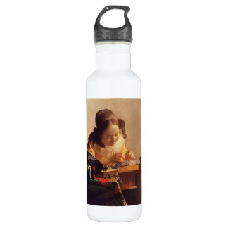 The Lacemaker by Johannes Vermeer 24oz Water Bottle