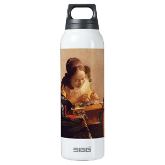 The Lacemaker by Johannes Vermeer 16 Oz Insulated SIGG Thermos Water Bottle