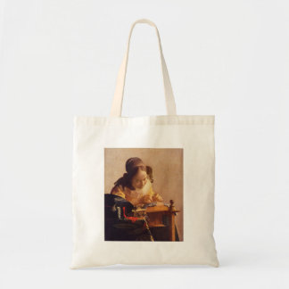 The Lacemaker by Johannes Vermeer Tote Bag