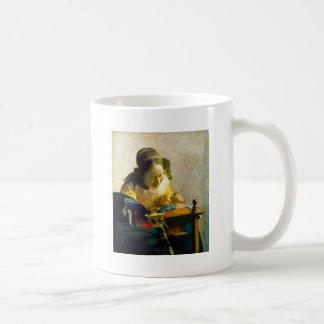 The Lacemaker, Jan Johannes Vermeer Coffee Mug