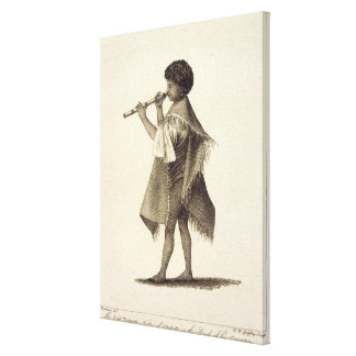The Lad Taiyota, Native of Otaheite, in the Dress Canvas Print