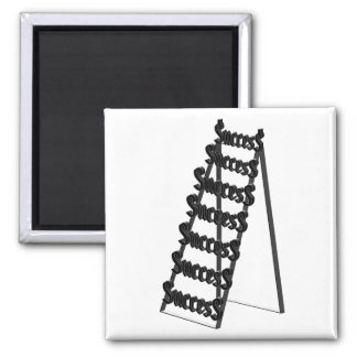The Ladder of Success 2 Inch Square Magnet