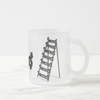 The Ladder of Success 10 Oz Frosted Glass Coffee Mug